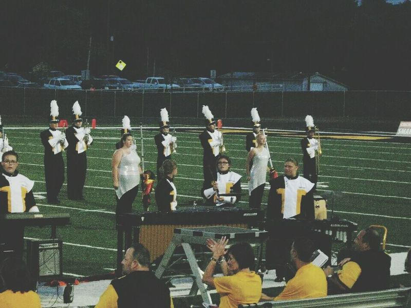 First Football Game Love♡ That's Me Colorguard