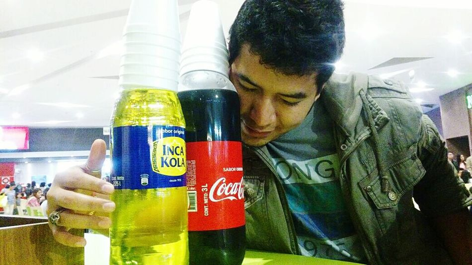 oh! dulce elixir de los dioses... :3 Cocacola Inkacola One Person Drink And Food Timeless