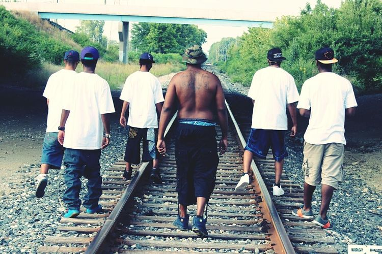 Me and my gwallas walking thru this rough railroad called life Gwallaboyz Saucegod