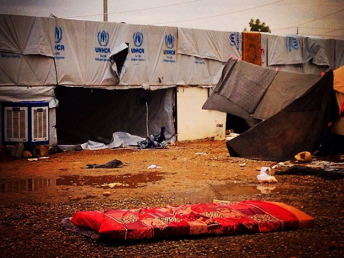 Iraq Kurdistan Conflict Landscape Loss United Nations Hope Resilience  IDP Camp Displacement Rain Desolate