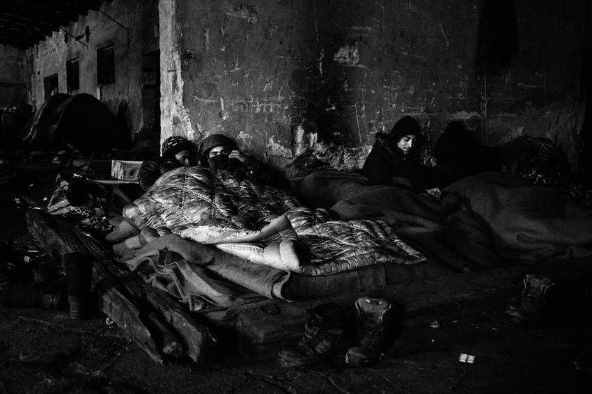 January 2017. For several months, hundreds of young Afghans and Pakistanis have taken refuge in disused warehouses of the central station of Belgrade. While temperatures have recently dropped below -10 degrees Celsius, they are trying to survive in deplorable sanitary conditions. Belgrade Blackandwhite Documentary Photojournalism Refugeecamp Refugees Refugees Crisis Serbia