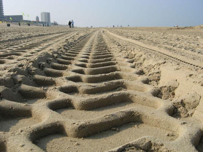 Beach Horizon Sand Skidmarks Surface Level