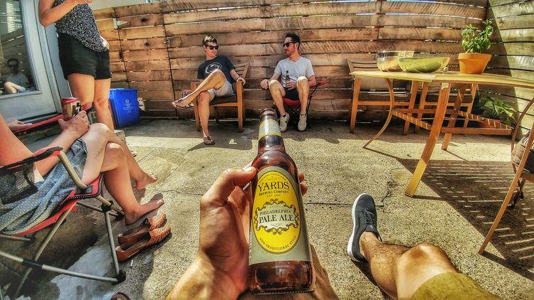Backyard Friends BBQ Time Hanging Out Enjoying Life Relaxing Taking Photos Yardsbrewery Yardspaleale Friendship