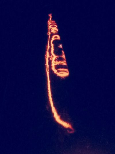 Light Speed 186,282.25 Miles Per Second Orange Color No People Heat - Temperature Light Bulb