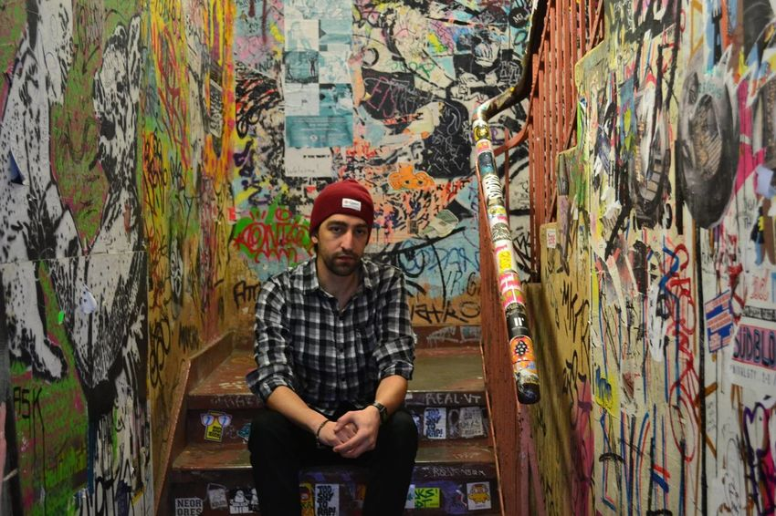 Artist Artist's Canvas Beard Creativity Graffiti Multi Colored One Man Only One Person Portrait