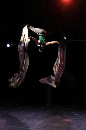 Aerial Silks Athlete Circus Dance Aerialist Arts Culture And Entertainment Dancing Flying Full Length Performance Real People Skill  Stage Upside Down