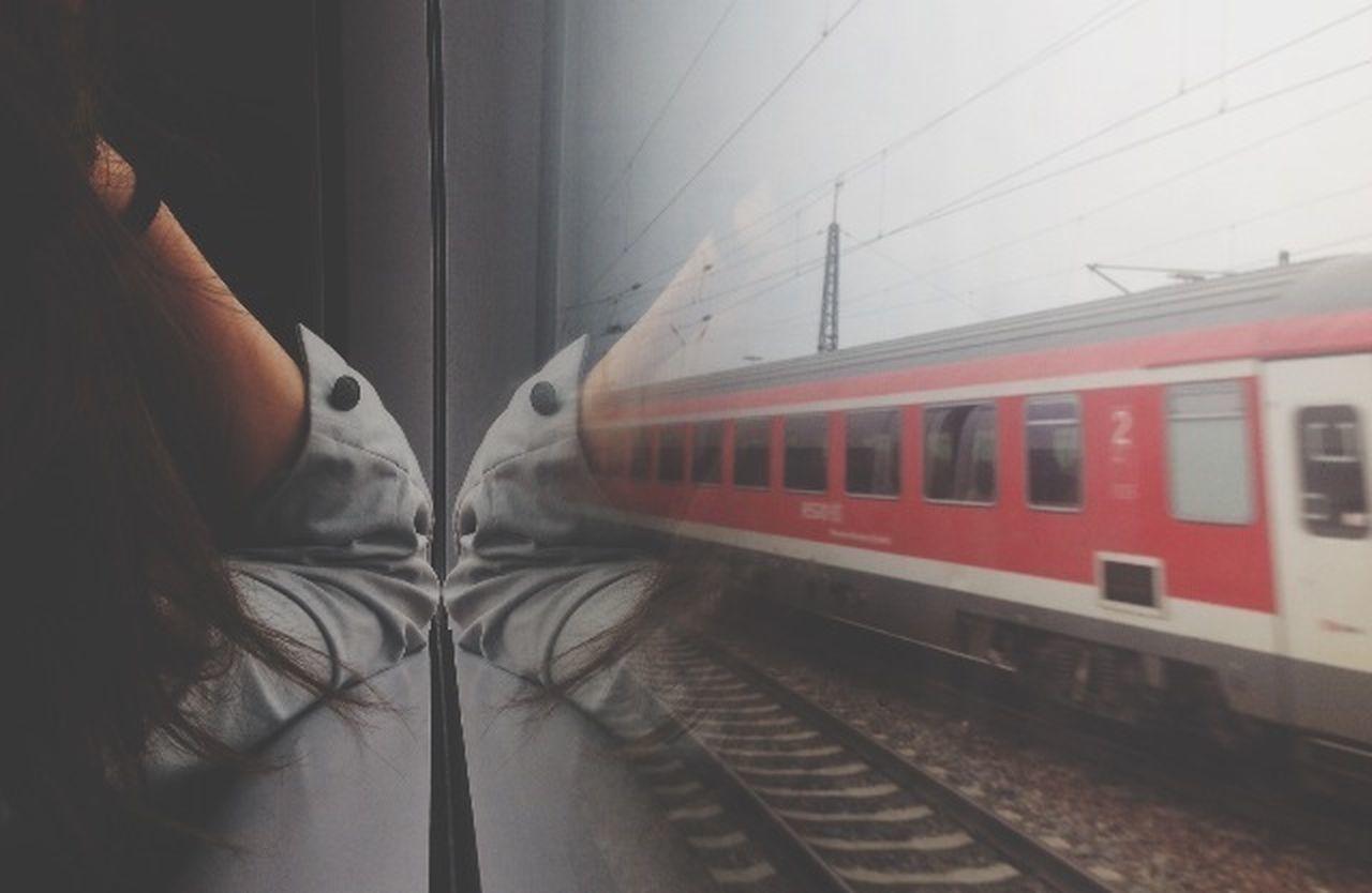TRAIN SEEN THROUGH TRAIN
