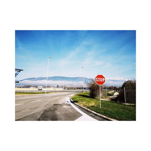 On The Road Samsung VSCO Lightroom Road Sign Road Sky