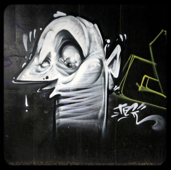 Kid Zoom Throwie, under a bridge Graffiti in Melbourne