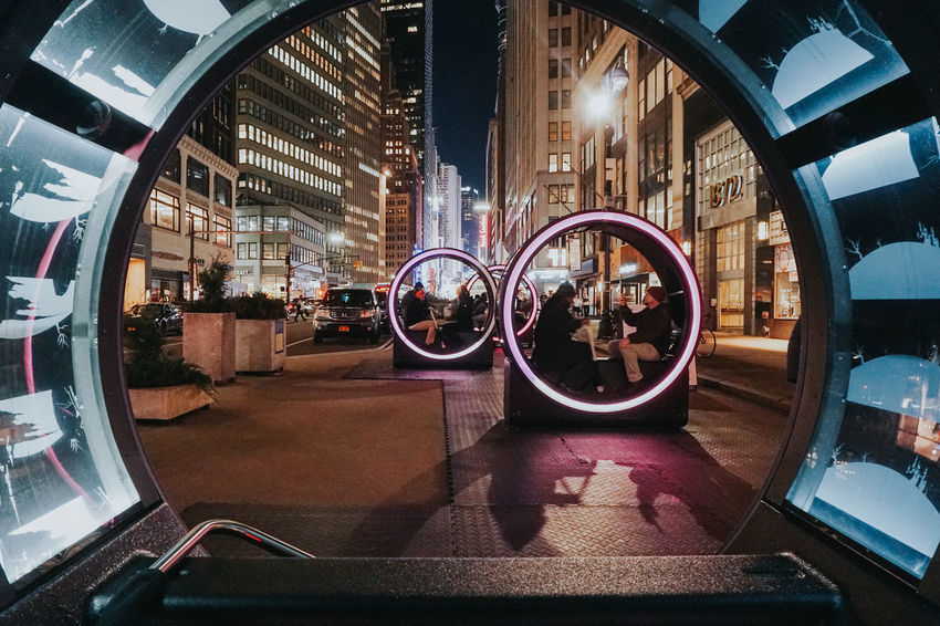 Light Music Art City Day Fish-eye Lens Illuminated Night No People Outdoors Reflection Window