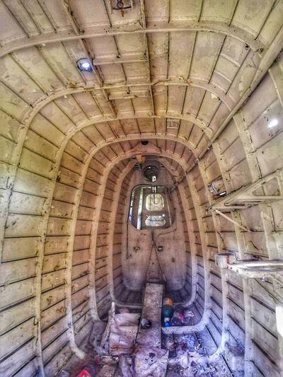 Airplane Interior Old Airplane Men Architecture