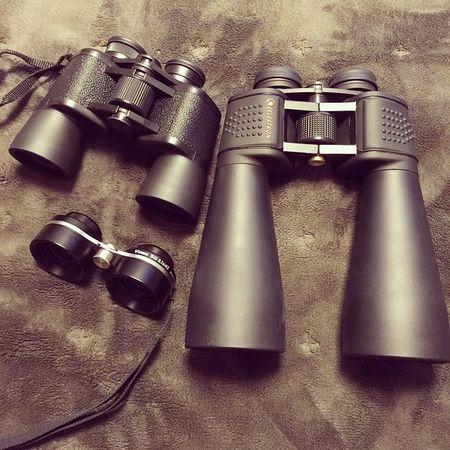 我が家の双眼鏡コレクション。やっぱり8x42という普通のが一番使いやすいことが分かりました!15x70は重すぎて三脚専門_| ̄|○ 双眼鏡 Binocular Celestron Kenko Vixen