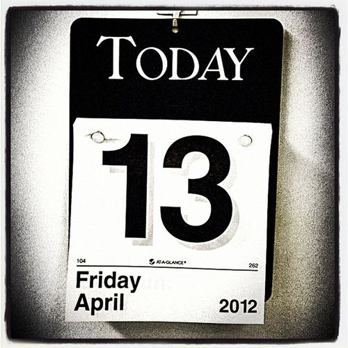Friday The 13th! Abstract Friday Date 13 Calendar Vt Btv 13th Friday_the_13th