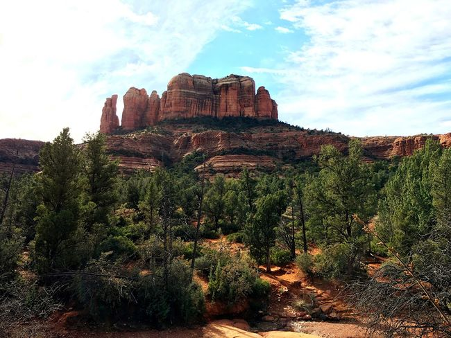 Cathedral Rock Cathedral Rocks Sedona Arizona USA Relaxing Hello World Sky And Clouds Sky Beautiful Nature Naturelovers Nature Enjoying Life Hanging Out Vacation Life Nice Views Enjoying The Sights Voltex