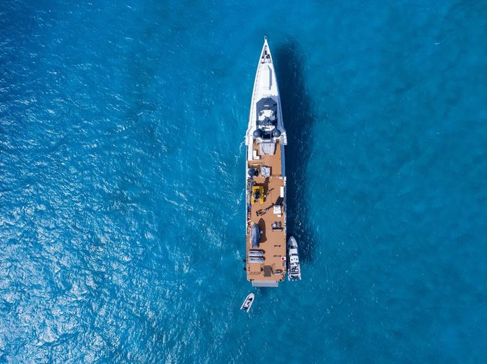 Damen Yacht Support Top Down View Bahamas Aerial Photography DJI X Eyeem Nautical Vessel Water High Angle View Transportation Sea Mode Of Transportation Waterfront Travel Blue Nature Outdoors Aerial View Yacht Ship