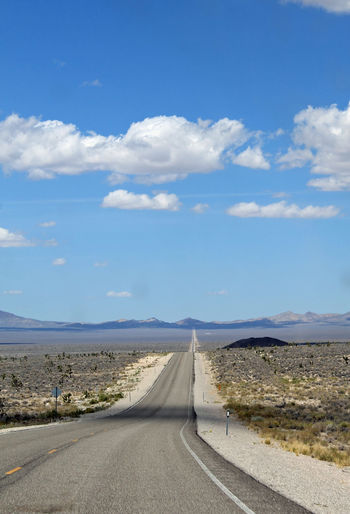 Extraterrestrial Highway outside of Rachel, Nevada Aliens Blue Sky Clouds Desert Deserts Around The World Empty Extraterrestrial Highway Highway Isolation Nature Nevada Road Roadtrip Wild West The KIOMI Collection Blue Wave The Great Outdoors - 2016 EyeEm Awards