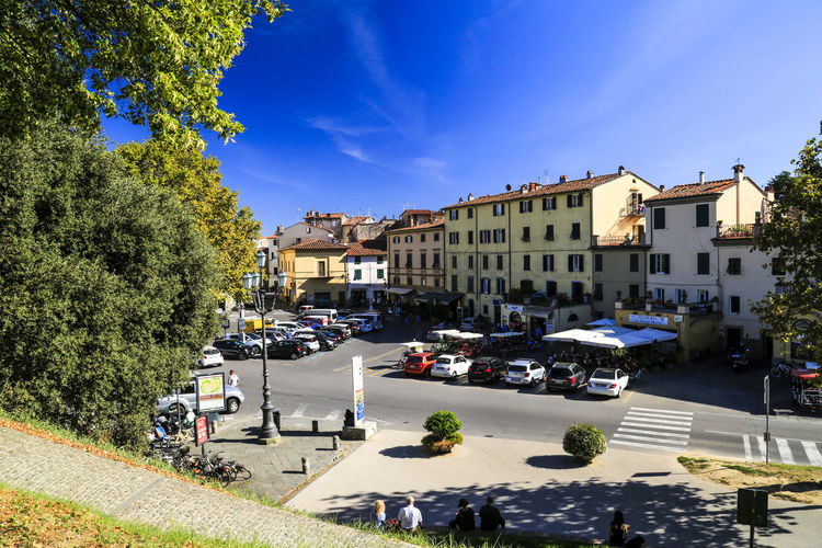 View from the wall Lucca Italy Historic Town Architecture Building Exterior Built Structure City Street Walled Town