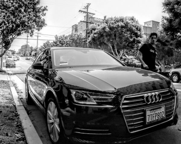 My cousin and his inferior Audi. Audi Downtown Wilshire Bond