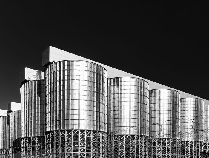 Architecture Black And White Built Structure Day Industry No People Outdoors Sky