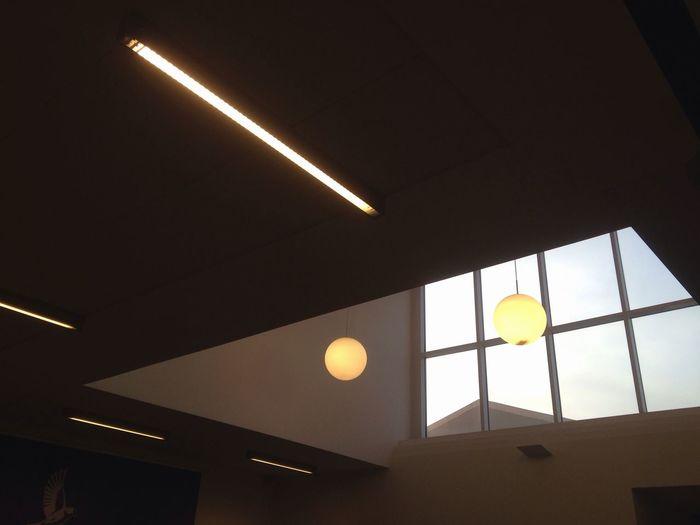 Lamps Ceiling Window Sky