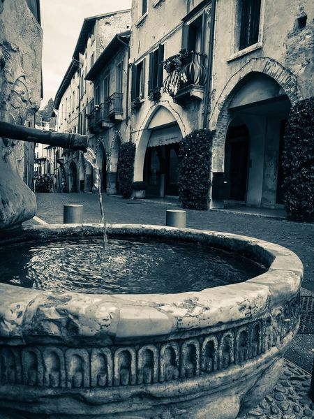 Shotoniphone7 ShotOnIphone Blackandwhite Old Town Asolo, Italy Asolo Water Architecture Built Structure Building Exterior Day Outdoors