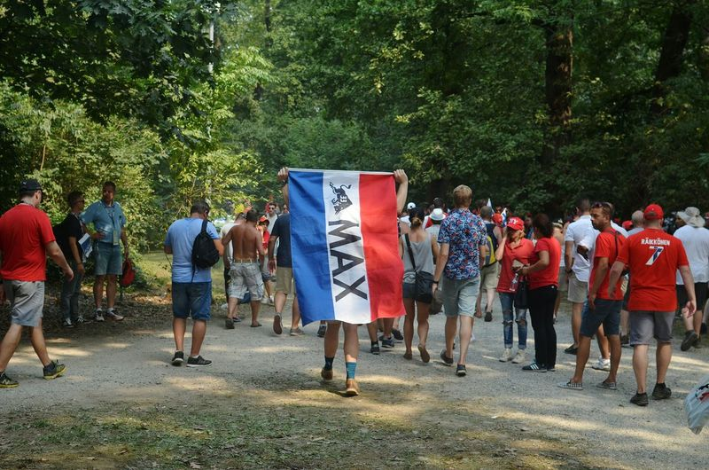 Monza Max Verstappen Red Bull Formula 1 Large Group Of People Tree Outdoors Weekend Activities Max Verstappen Autosport Car Racing Racing Autodromo Di Monza Italia Supporters F1