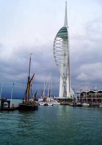 Waterfront Sky Tower Sailboat Sea Water Outdoors Urbanphotography Walking Around Walking Around The City  From Where I Stand Taking Photos Taking Pictures Street Photography Streetphotography EyeEm Best Shots Portsmouth Portsmouth Harbour Portsmouthphotographer Lighthouse Lighthousephotography Travel Destinations Scenics