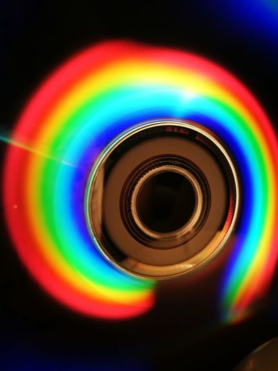 colors make us happy Cd Multi Colored Rainbow Abstract Spectrum No People Indoors  Refraction Black Background Close-up Colour Your Horizn Going Remote Visual Creativity The Creative - 2018 EyeEm Awards