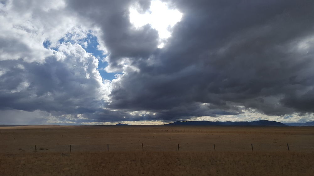 USA Calm Before The Storm Ominous Sky Stormy Weather Wyoming Landscape Flatlands The City Light