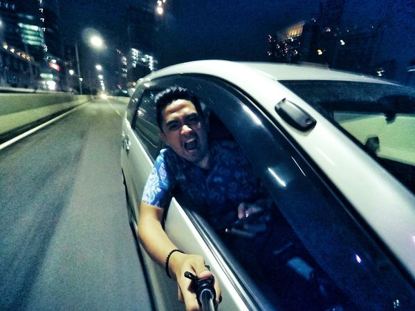 Some people seeks pleasure by doing stupid things... Stunts Stupidity Idiots Xiaomiyi Xiaomiyicamera Drivingshots Crazy Stuff Selfies Check This Out Night Ride That's Me EyeEm Best Shots EyeEm Jakarta EyeEm Indonesia Cheese! Human Meets Technology Need For Speed Cities At Night