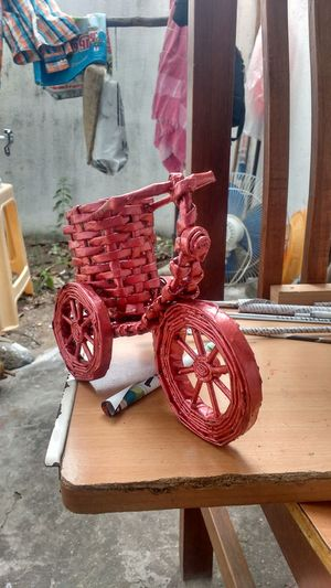inspiration, creating paper craft Creating Paper Craft Paper Bike Pen Stand Wood - Material No People Indoors  Red Table Day First Eyeem Photo