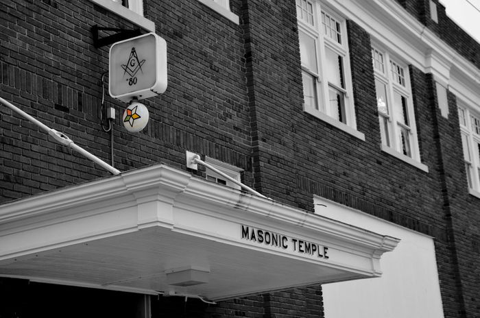 Architecture Building Exterior Built Structure City Day Guidance Information Sign Journey Masonic Masonic Buildings Masonic Symbol Masonictemple Outdoors Symbol Transportation Ohio, USA Lewisburg, Ohio