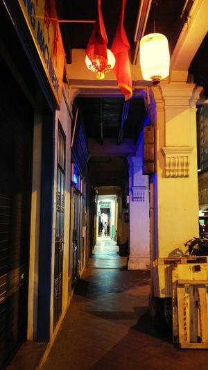 Long way to the light. Theneighbourhoodseries Cities At Night ASIA Night Streetphotography Chinese Lantern Singapore