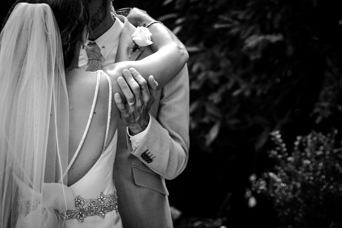 Wedding day Love Togetherness Two People Bonding Embracing Women Couple - Relationship Real People Bride Romance Affectionate Wedding Young Women Wife Hugging Lifestyles Rear View Husband