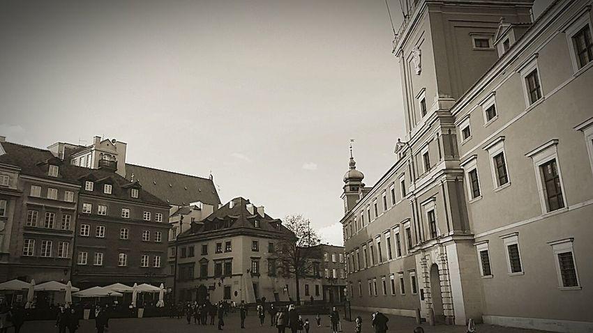 Warsaw City Warsaw Old Town Warsaw Retro Evening Vintage