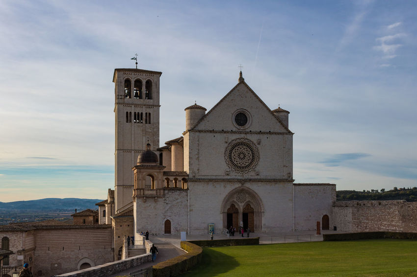 Basilica Church Saint Francis Of Assisi Architecture Bell Tower Building Exterior Built Structure Cloud - Sky Day History No People Outdoors Place Of Worship Religion Sky Spirituality