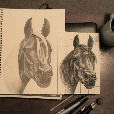 W.I.P. Art ArtWork Artist Photooftheday sketch drawing horses masterpiece instagram