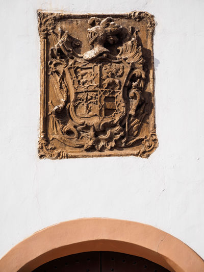 Animal Representation Arch Art Art And Craft Close-up Creativity Façade Heraldic Heraldic Shield No People Old Ornate Pattern Textured