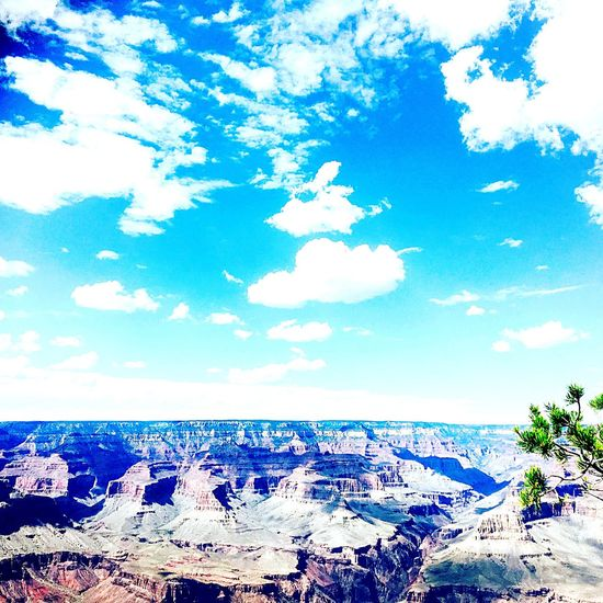 Sky Cloud - Sky Blue Nature Beauty In Nature Day Tranquility Tranquil Scene Scenics No People Outdoors Sea Landscape Horizon Over Water Tree Grand Canyon Dream Sunset #sun #clouds #skylovers #sky #nature #beautifulinnature #naturalbeauty #photography #landscape