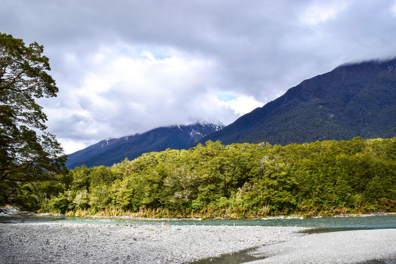 Scenic views at the blue pools. Blue Pools Walk Beauty In Nature Cloud - Sky Day Environment Growth Landscape Mountain Mountain Peak Mountain Range Mountains Nature New Zealand No People Non-urban Scene Outdoors Plant Range River Scenics - Nature Sky Tranquil Scene Tranquility Tree Water