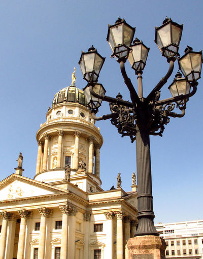 A Taste Of Berlin Architectural Column Architecture Baroque Style Blue Building Exterior Built Structure City Clear Sky Day Dome History Low Angle View No People Outdoors Place Of Worship Religion Sky Spirituality Travel Destinations #FREIHEITBERLIN