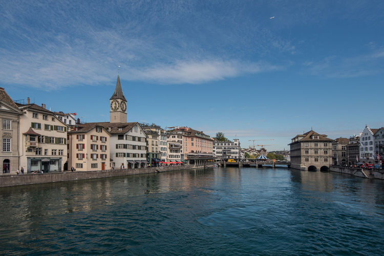 Zurich cityscape from munsterbrucke