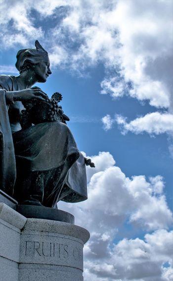 Statue Statue And Sky Pier Head Liverpool Clouds Albert Docks Liverpool Liverpool Docks Liver Building Merseyside