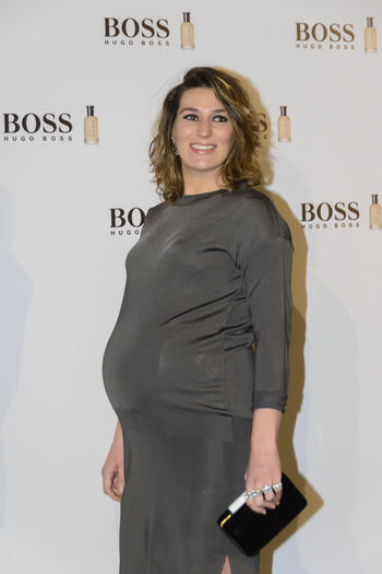 "Madrid, Spain 3rd February 2016. Eugenia Osborne, socialite, attends the ""Man of Today"" party. The Scottish actor and producer, Gerard Butler, was introduced at a cocktail party as ""Man of Today"" and Ambassador of Boss Bottled fragrances in Madrid, Spain. Celebration Celebrity Fashion Fashion Front View Happiness Hugo Boss Lifestyles Man Of Today Person Photocall Portrait Pregnant Real People Smiling Standing Three Quarter Length Vip Young Adult"