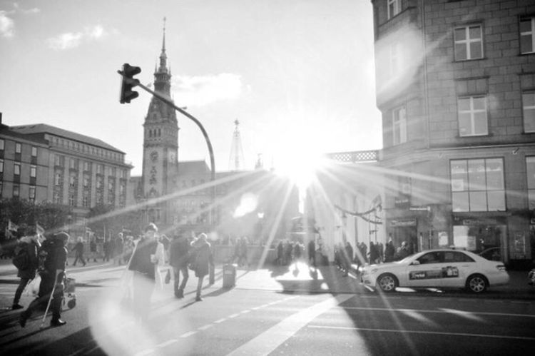 Battle Of The Cities Sky City City Life Streetphotography Street Photography Blackandwhite Streetphoto_bw Black And White Sun Reflection Monochrome Photography The Traveler - 2018 EyeEm Awards The Street Photographer - 2018 EyeEm Awards