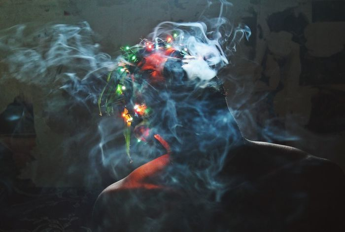 Smoke - Physical Structure Outdoors Adult Close-up Motion Day Night Picture Art Photo Photography Illuminated Colorful Dark Artistic Picoftheday Artphotography Creativity Photograph Vscocam Artphoto VSCO Vscogood Multi Colored Human Body Part