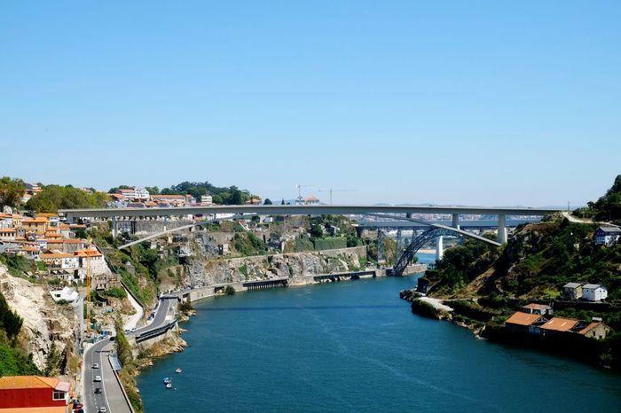 Bridges of Porto. Bridge River Rocks Valley Road Riverview Architecture Scenic