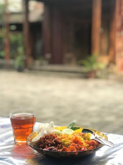 Nasi kuning Food Table Drink Glass Refreshment Focus On Foreground Healthy Eating Day Meal Close-up Ready-to-eat First Eyeem Photo