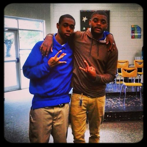 hanging wit my skater bro Dennis after skool on our last day..