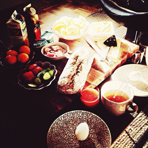 Breakfast watching OS, go Sweden go! ? Breakfast